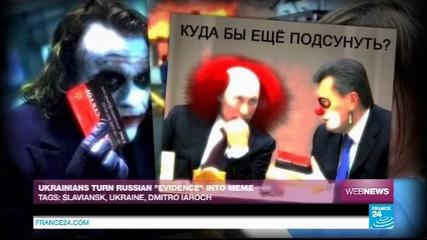 News video: Ukrainians turn Russian 'evidence' into meme